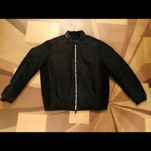 Armani Exchange Black Zip Up NWOT Jacket